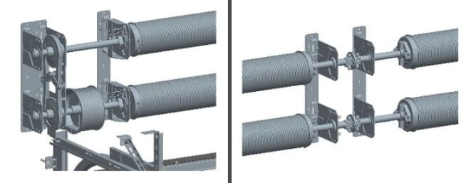 Промышленные автоматические ворота: двухвальная система балансирования от Алютех (Alutech) фото