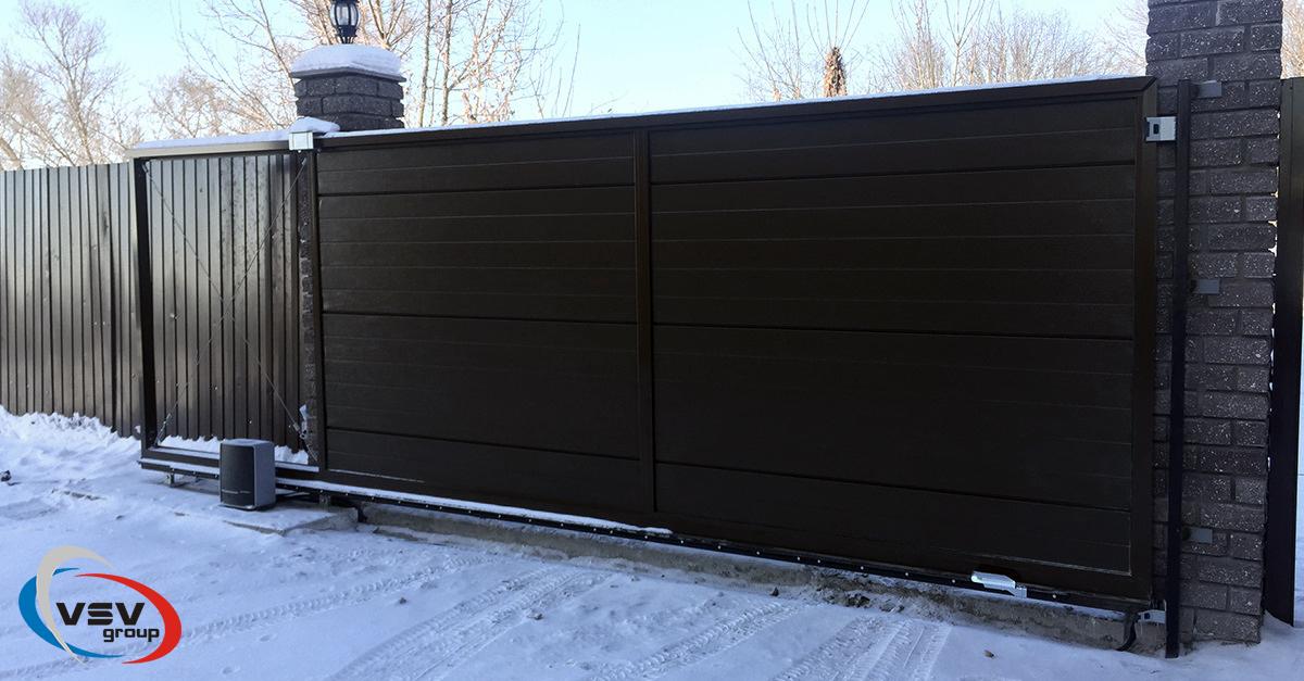 Разновидности откатных ворот: оптимальный вариант с учетом украинских зим - фото - акции от компании ВСВ-Групп