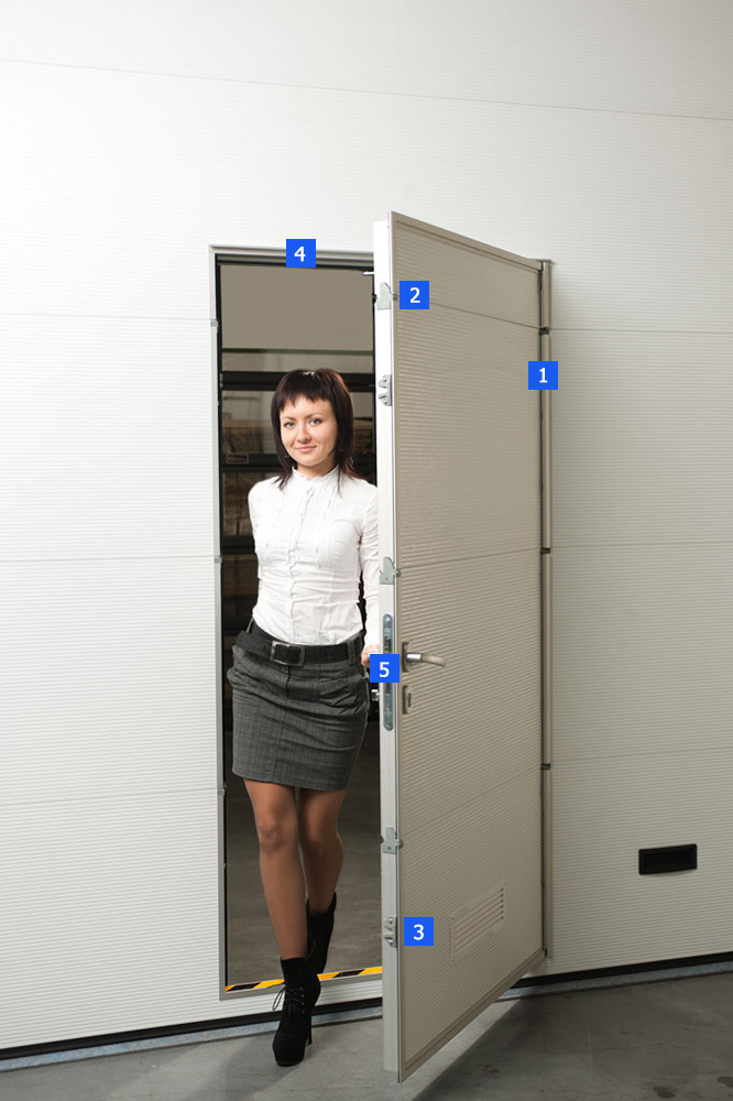 Гаражные секционные ворота с калиткой - фото 2 | Компания ВСВ-Групп