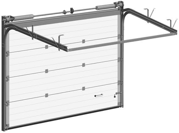 Установка секционных ворот: пошаговая инструкция - фото - акции от компании ВСВ-Групп