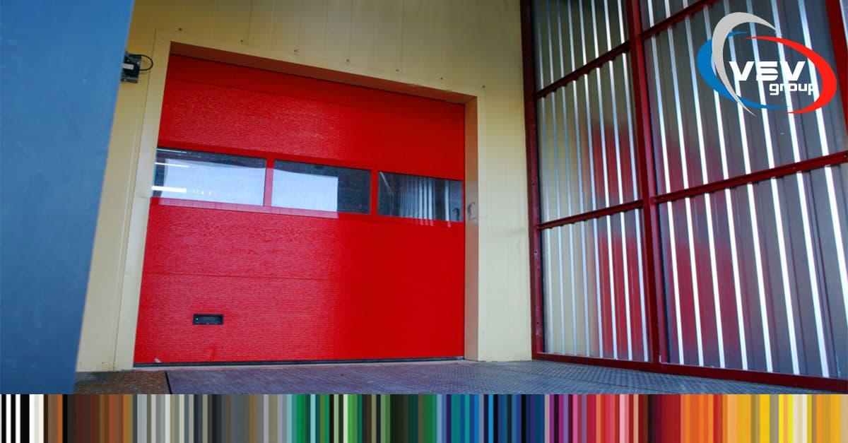 Новые цвета и особенности окраски панорамных секционных ворот Alutherm - фото - новость от компании ВСВ-Групп