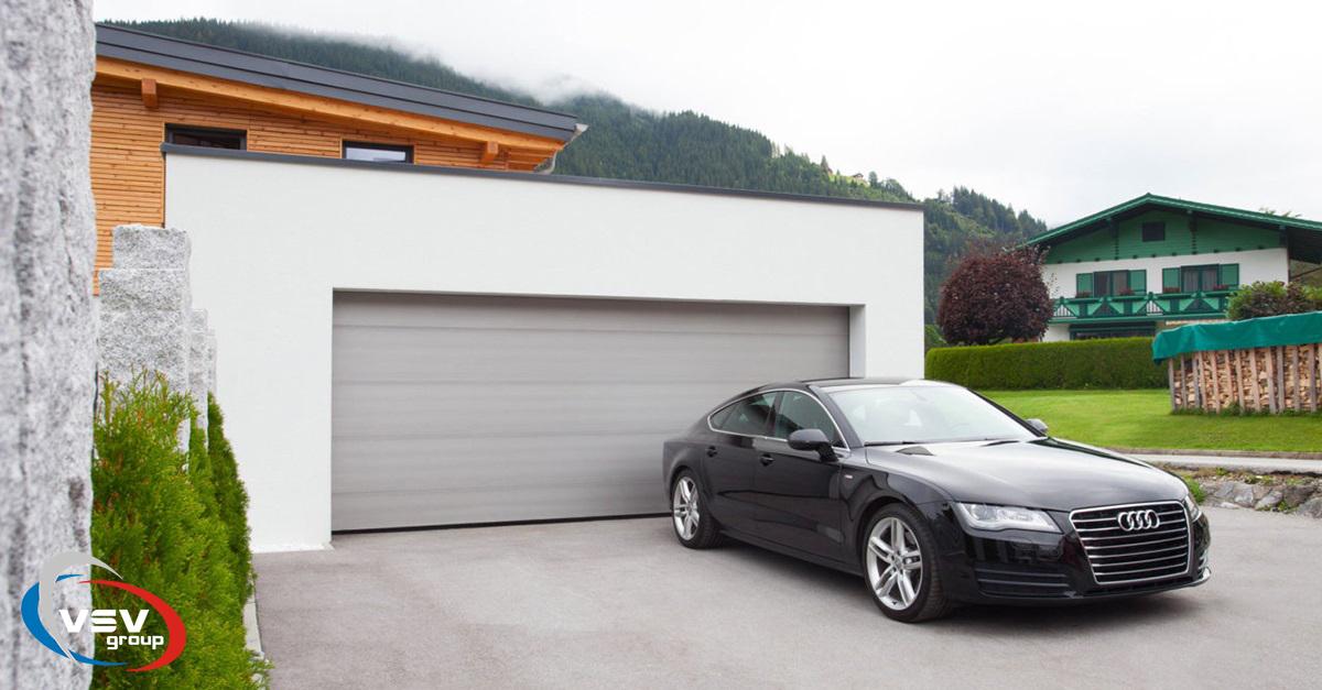 Дизайн секционных гаражных ворот - фото - акции от компании ВСВ-Групп