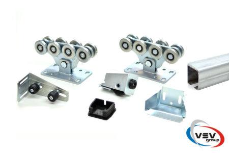 Комплект фурнітури для відкатних воріт до 700 кг з  оцинкованою шиною - фото - продукция компании ВСВ-Групп