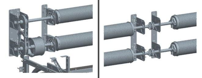 Промышленные автоматические ворота: двухвальная система балансирования от Алютех (Alutech) - фото - новость от компании ВСВ-Групп