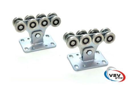 Комплект фурнитуры для откатных ворот до 450 кг с оцинкованной шиной - фото - продукция компании ВСВ-Групп