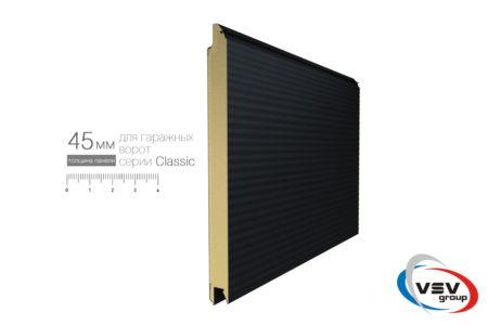 Подъемные секционные ворота для гаража Алютех Классик 2125х2125 мм микроволна цвет красный - фото - продукция компании ВСВ-Групп