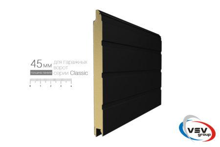 Гаражные секционные ворота в гараж Алютех Классик 2125х2125 мм S-гофр бежевого цвета - фото - продукция компании ВСВ-Групп