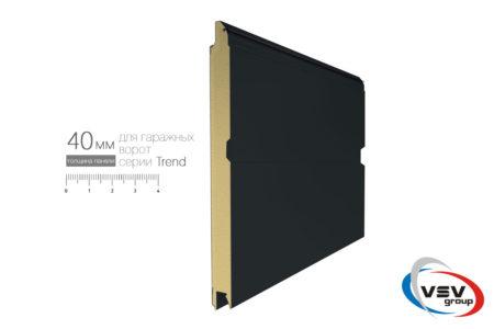 Гаражні ворота Trend 2500х2500 з сендвіч-панеллю M-гофр в кольорі темний дуб - фото - продукция компании ВСВ-Групп