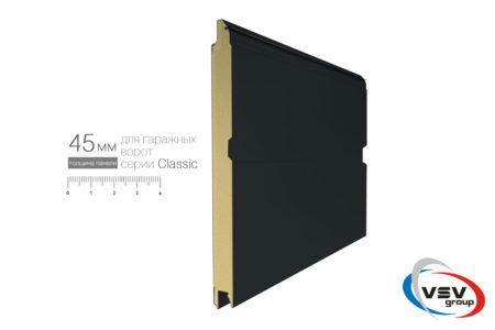 Секційні гаражні ворота Алютех Класик 2250х2125 M-гофр колір вишня - фото - продукция компании ВСВ-Групп