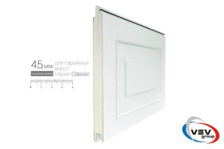 Секційні ворота Classic 2625х2375 з сендвіч-панеллю фільонка в кольорі темний дуб - фото - продукция компании ВСВ-Групп