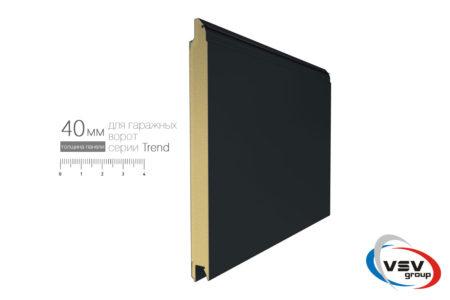 Гаражні ворота Trend 2500х2500 з сендвіч-панеллю L-гофр в кольорі темний дуб - фото - продукция компании ВСВ-Групп