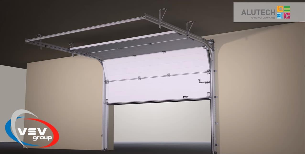 Стандартный монтаж секционных ворот – обучающее видео - фото - новость от компании ВСВ-Групп
