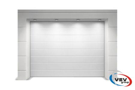Гаражные ворота Classic 4000х2375 с сэндвич-панелью M-гофр в белом цвете - фото - продукция компании ВСВ-Групп