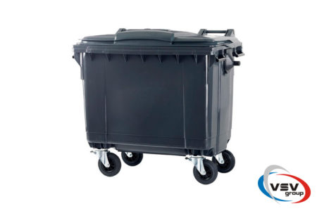 Сміттєвий контейнер ESE 660 л Сірий - фото - продукция компании ВСВ-Групп