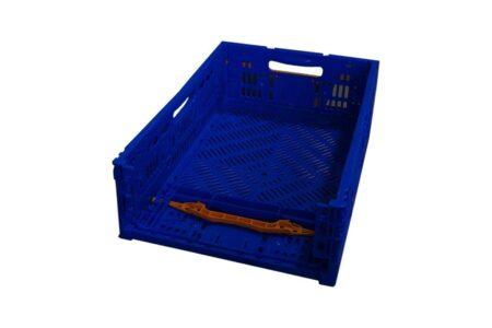 Ящик пластиковий складний з ручкою 600x400x175 мм синій - фото - продукция компании ВСВ-Групп