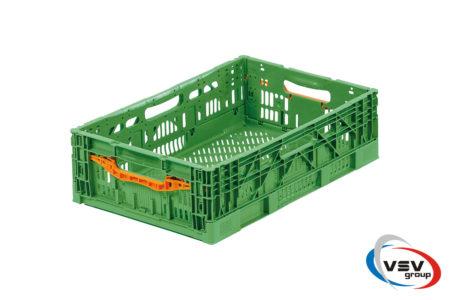 Ящик пластиковый складной с ручкой 600x400x175 мм зеленый - фото - продукция компании ВСВ-Групп