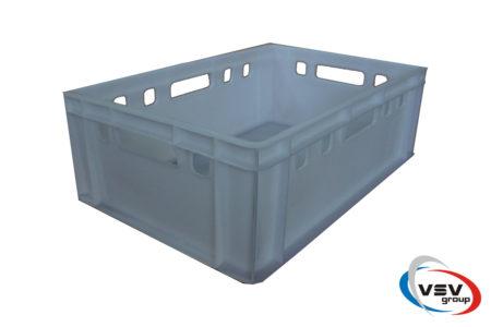 Пластиковый ящик сплошной 600x400x195 мм белый - фото - продукция компании ВСВ-Групп