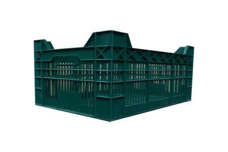 Пластиковый ящик перфорированный 600x400x210/250 мм зеленый - фото - продукция компании ВСВ-Групп