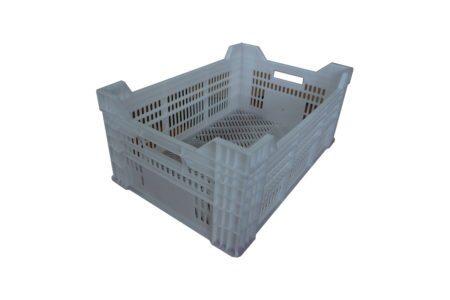 Перфорированный пластиковый ящик 600x400x210/250 мм белый - фото - продукция компании ВСВ-Групп