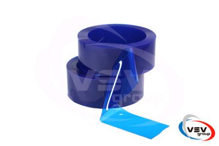 Прозрачная пвх лента синего цвета 200х2 мм - фото - продукция компании ВСВ-Групп
