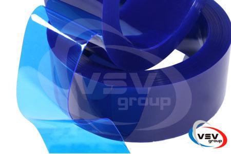 Прозора ПВХ стрічка синього кольору 200х2 мм - фото - продукция компании ВСВ-Групп