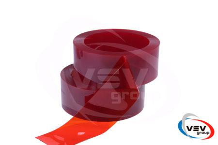 Прозрачная красная пвх лента для завес 200х2 мм - фото - продукция компании ВСВ-Групп