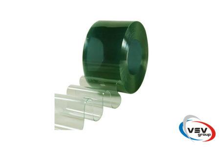 Прозрачный пвх материал для завес зелёного цвета 200х2 мм - фото - продукция компании ВСВ-Групп
