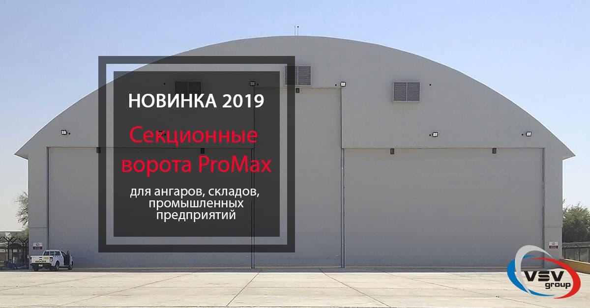 Новинка 2019 — секционные ворота серии ProMax - фото - новость от компании ВСВ-Групп