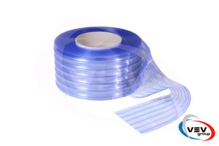 Ребристая прозрачная лента пвх 300х2 мм 1 пог.м. - фото - продукция компании ВСВ-Групп