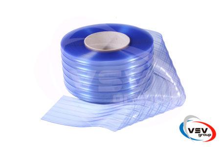 Материал пвх для завес 300х3 ребристый прозрачный - фото - продукция компании ВСВ-Групп