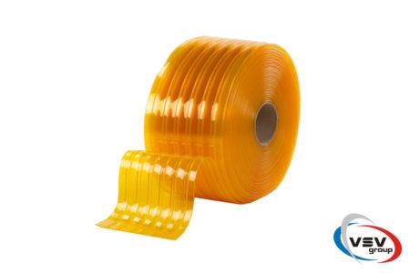 Ребристая пвх лента 200х2 мм антимоскитная желтая - фото - продукция компании ВСВ-Групп
