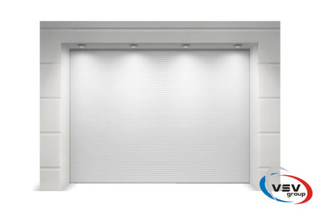 Гаражні ворота Алютех Тренд 2125х2125 мм мікрохвиля білого кольору - фото - продукция компании ВСВ-Групп