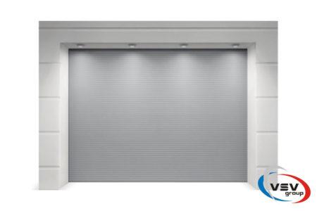 Гаражные ворота Trend микроволна 3250х2250 в цвете серебристый металлик (woodgrain) - фото - продукция компании ВСВ-Групп