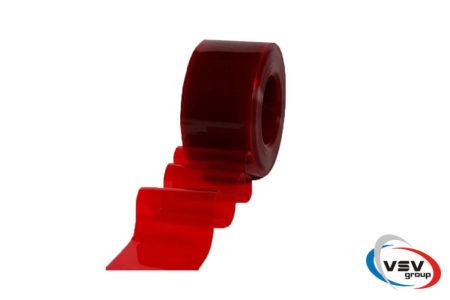 Красная лента пвх 300х3 мм прозрачная - фото - продукция компании ВСВ-Групп