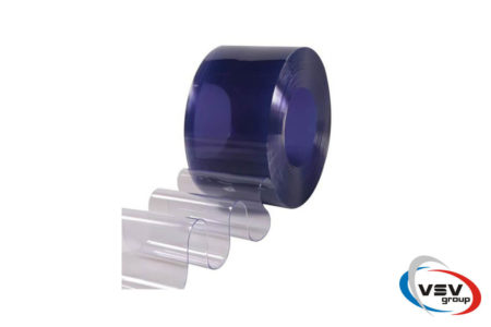 Прозрачная пвх лента синего цвета 300х3 мм - фото - продукция компании ВСВ-Групп