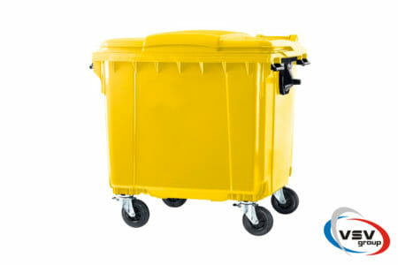 Сміттєвий контейнер ESE 1100 л Жовтий - фото - продукция компании ВСВ-Групп