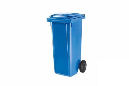 Контейнер сміттєвий для ТПВ об'ємом120 л колір синій - фото - продукция компании ВСВ-Групп
