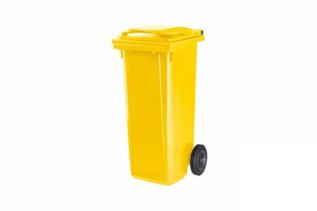 Мусорный бак пластиковый ESE 120 л Жёлтый - фото - продукция компании ВСВ-Групп
