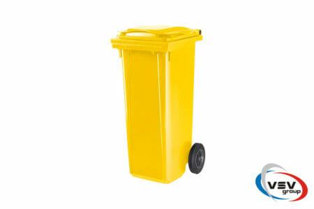 Мусорный контейнер ESE 120 л Жёлтый - фото - продукция компании ВСВ-Групп