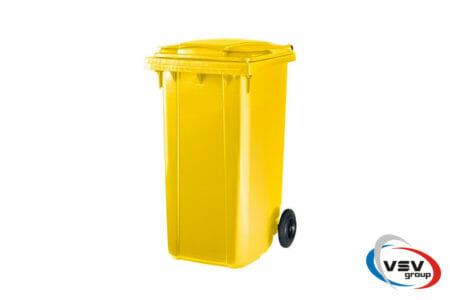 Мусорный контейнер ESE 240 л Жёлтый - фото - продукция компании ВСВ-Групп