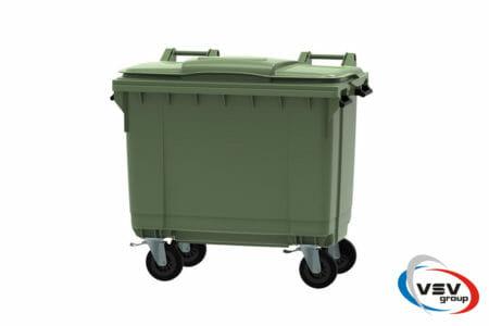 Мусорный контейнер ESE 660 л Зелёный - фото - продукция компании ВСВ-Групп