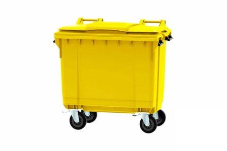Сміттєвий контейнер ESE 660 л Жовтий - фото - продукция компании ВСВ-Групп