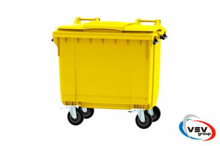 Мусорный контейнер ESE 660 л Жёлтый - фото - продукция компании ВСВ-Групп