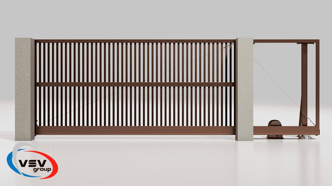 Откатные ворота: описание и особенности конструкций - фото - статья на блоге компании ВСВ-Групп