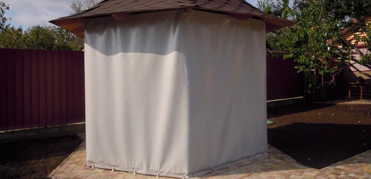Как защитить беседку от солнца, ветра и дождя? - фото - статья на блоге компании ВСВ-Групп