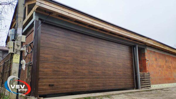 гаражные ворота, секционный, конструкция