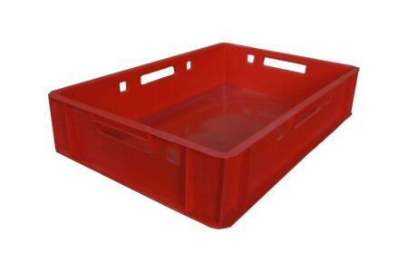 Пластиковий ящик суцільний 600x400x120 мм червоний - фото - продукция компании ВСВ-Групп