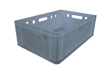 Пластиковий ящик суцільний 600x400x195 мм білий - фото - продукция компании ВСВ-Групп
