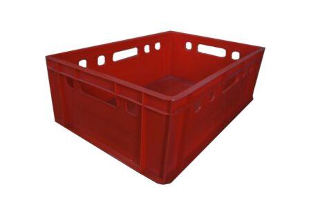 Пластиковый ящик сплошной 600x400x195 мм красный - фото - продукция компании ВСВ-Групп