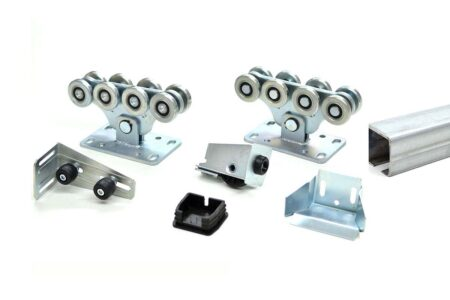 Комплект фурнітури для відкатних воріт SGN до 450 кг з неоцинкованою шиною - фото - продукция компании ВСВ-Групп